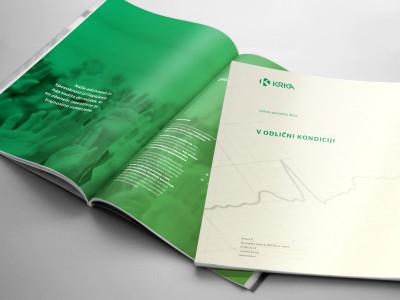 Naslovka letnega poročila in poglavja
